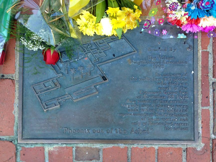The plaque includes a diagram of the nightclub.